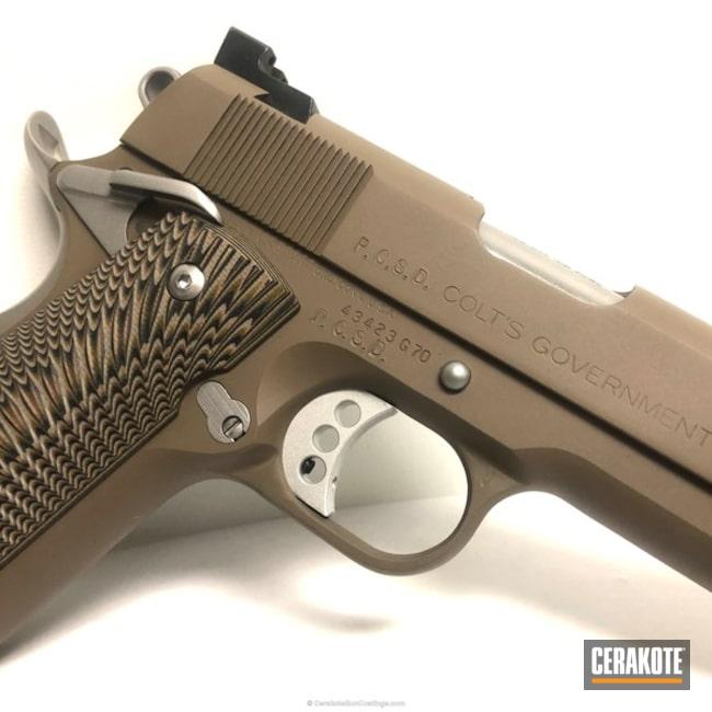 Cerakoted: Custom .45 Colt,MAGPUL® FLAT DARK EARTH H-267,Colt 1911,Custom 1911,Novak,Wilson Combat