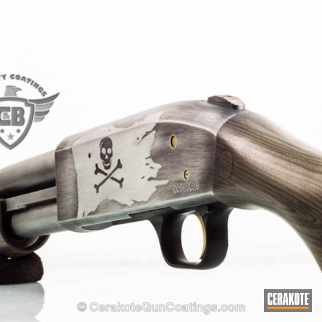 "Thumbnail image for project ""Mossberg Shockwave coated in a Custom Pirate Themed Finish"""