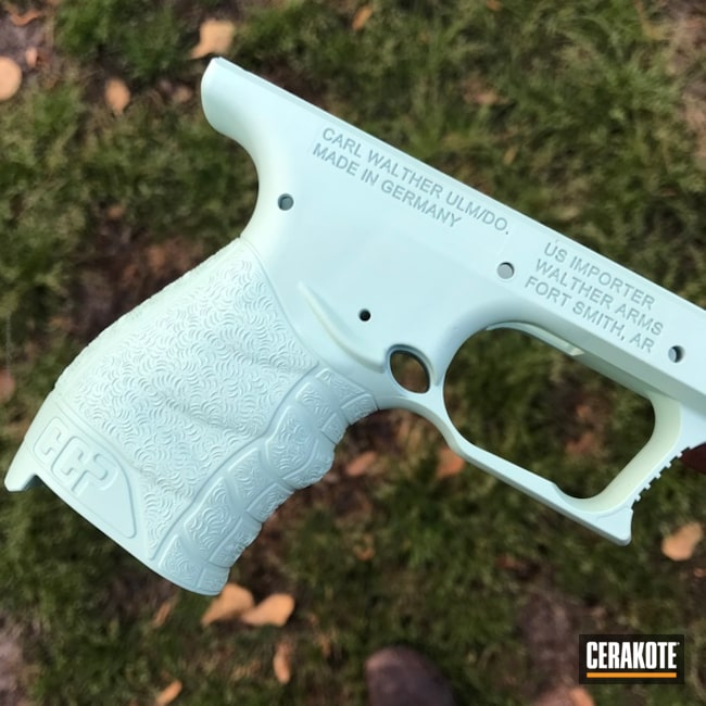 "Thumbnail image for project ""Walther Pistol Frame coated in H-175 Robin's Egg Blue"""