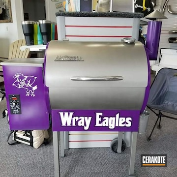 Cerakoted Refinished Bbq Cerakoted In A Lollypop Purple And Gun Metal Grey Air Cure Finish