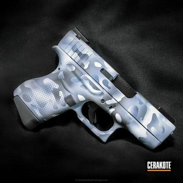 Cerakoted Glock Handgun Coated In A Custom Snow Multicam