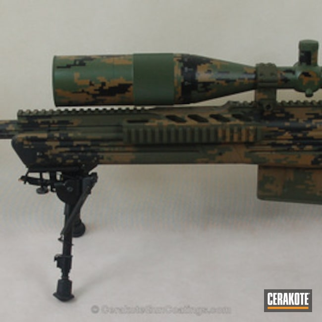 Savage Arms Sniper Rifle in a Digital Camo Finish