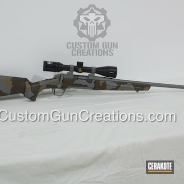 Cerakoted Bolt Action Hunting Rifle Cerakoted In A Kuiu Vias Camo Pattern
