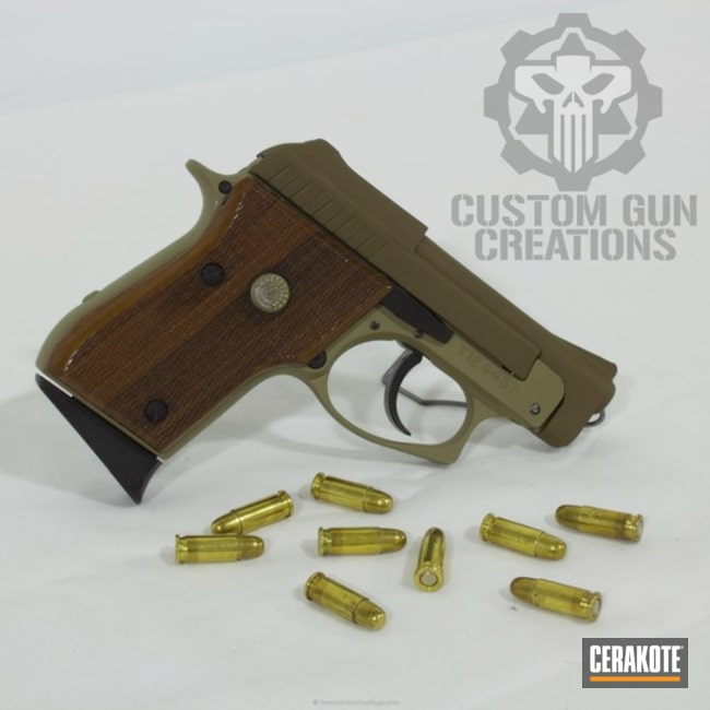 Taurus Compact Handgun done in a Coyote Tan and Glock FDE Finish