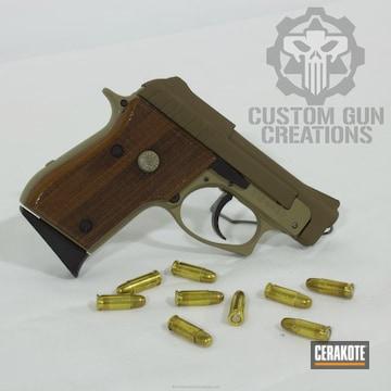 Cerakoted Taurus Compact Handgun Done In A Coyote Tan And Glock Fde Finish