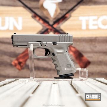 Cerakoted Glock 23 Pistol Done In H-152 Stainless