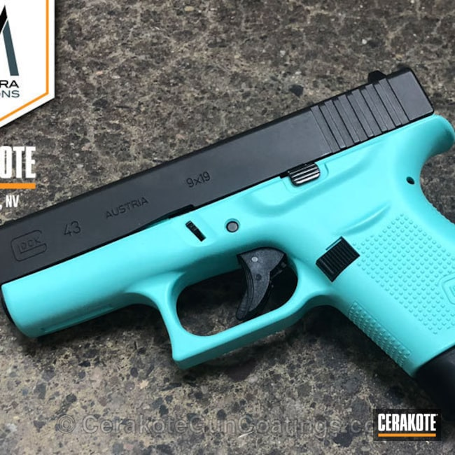 Two Tone Glock 43 don in H-175 Robin's Egg Blue