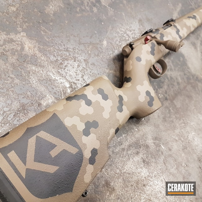 Save Arms Bolt Action Rifle done in a Custom Hex Camo