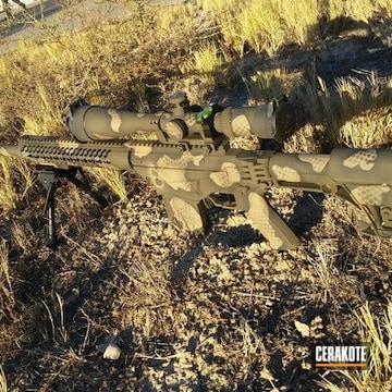Cerakoted Long Range Gun Coated In A Custom Snake Skin Camo