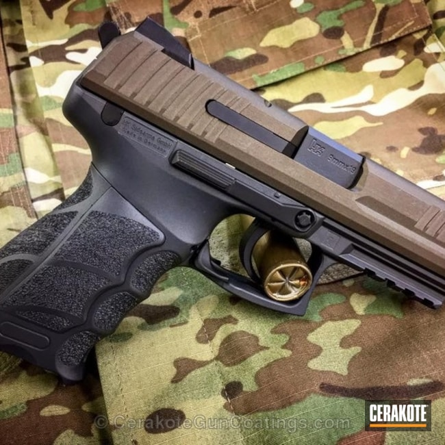 Two Toned Heckler & Koch Handgun in H-294 Midnight Bronze and H-234 Sniper Grey