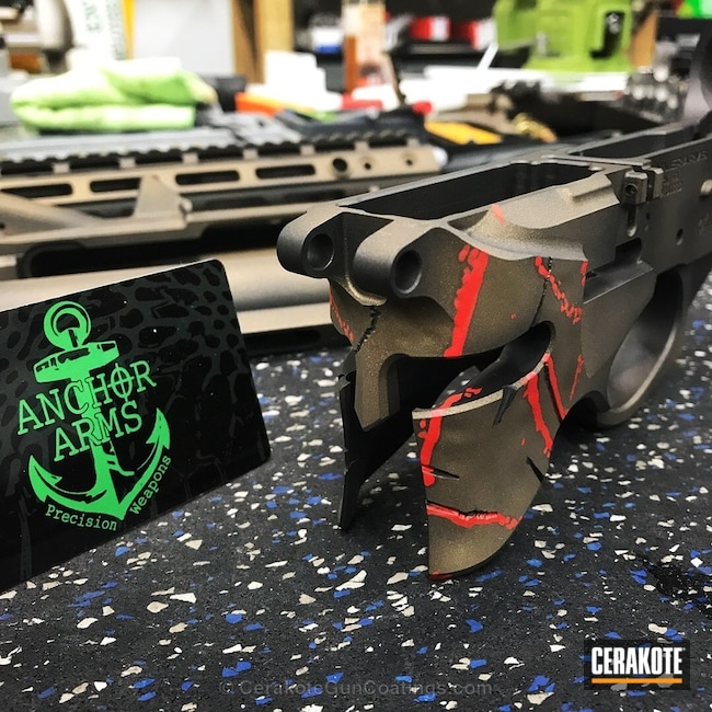 Spartan Themed Rifle Build in a Custom Cerakote Finish