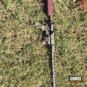 Cerakoted Custom Rifle Build In A Battleworn Cerakote Finish
