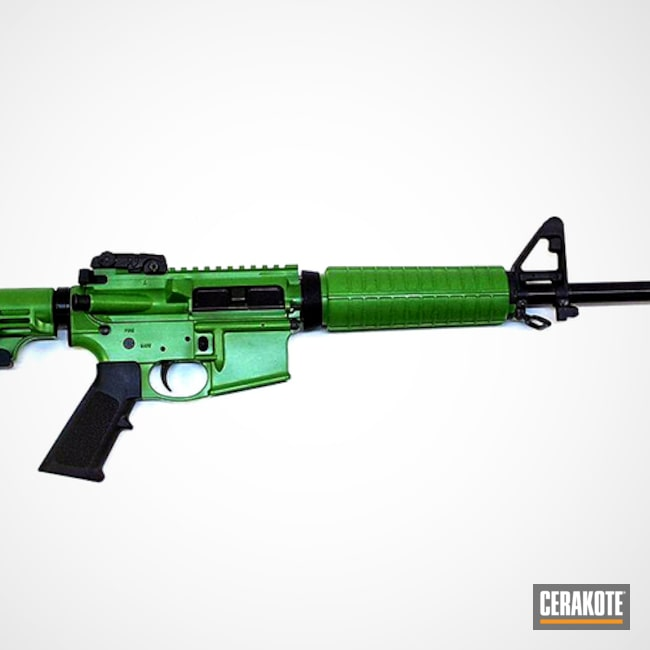 Bushmaster Rifle done in H-168 Zombie Green