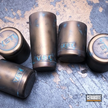 Cerakoted Yeti Cups Done In A Copper Patina Finish