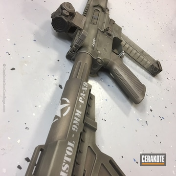 Cerakoted Ar Pistol Coated In A Custom Battleworn Ww2 Theme