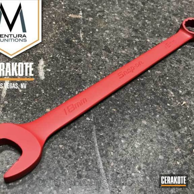 Snap-on Wrench coated in H-167 USMC Red