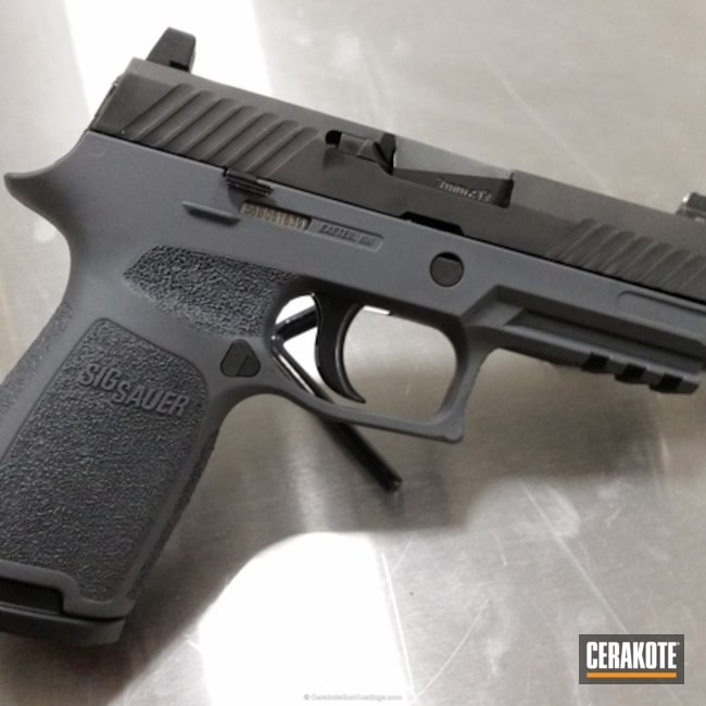 "Thumbnail image for project ""Sig Sauer P320 done in H-262 Stone Grey"""