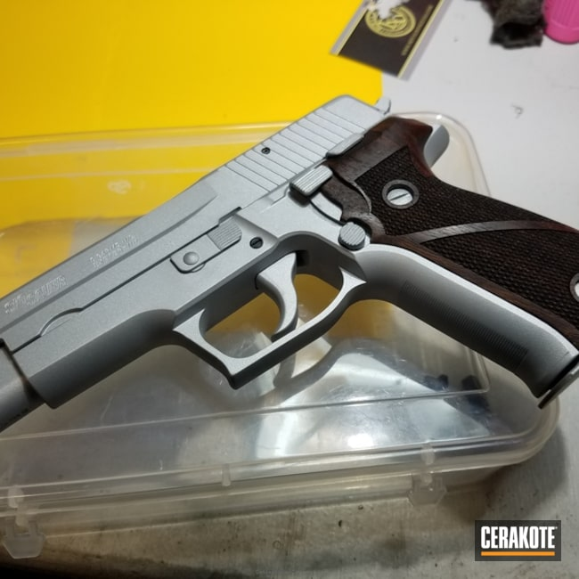 "Thumbnail image for project ""Sig Sauer coated in H-151 Satin Aluminum"""