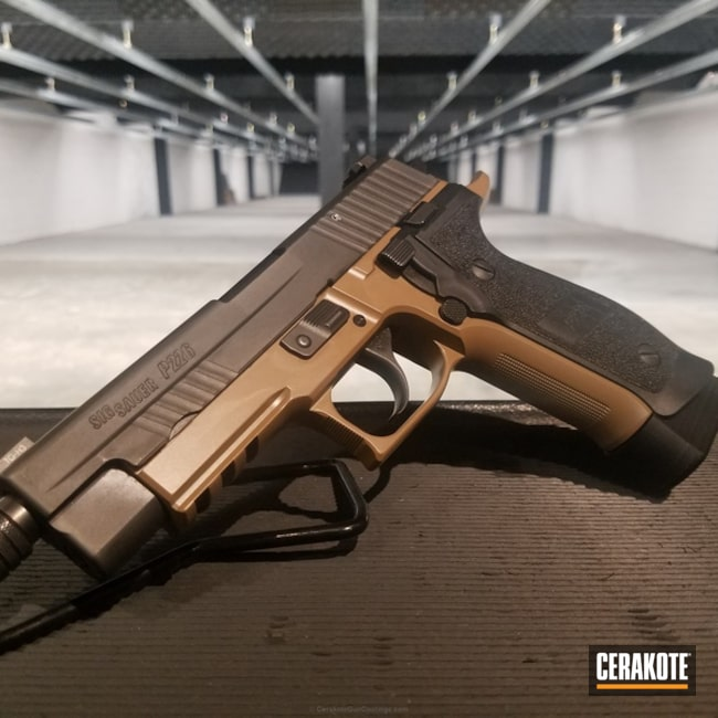 "Thumbnail image for project ""Sig Sauer P226 Handgun finished in Cerakote Elite E-190 20150"""