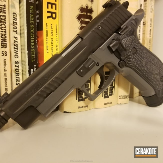 "Thumbnail image for project ""Sig Sauer P226 finished in E-160 Concrete"""