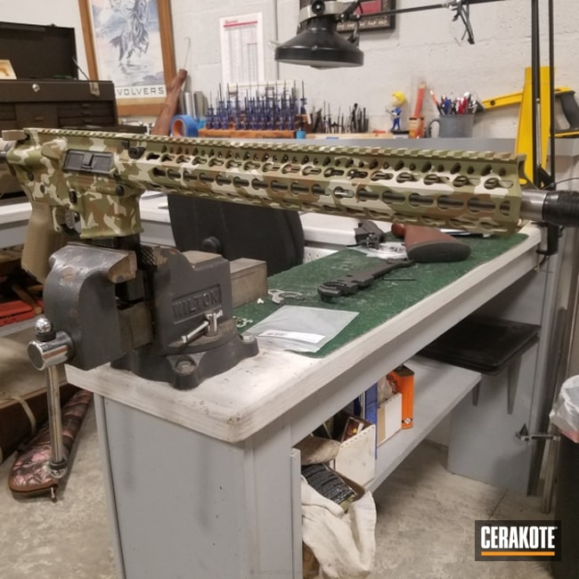 "Thumbnail image for project ""AR-15 Rifle finished in a Custom MultiCam Pattern"""