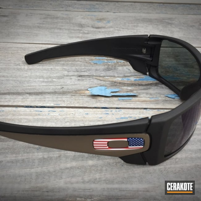 Oakley Sunglasses coated in H-146 Graphite Black and H-265 Flat Dark Earth