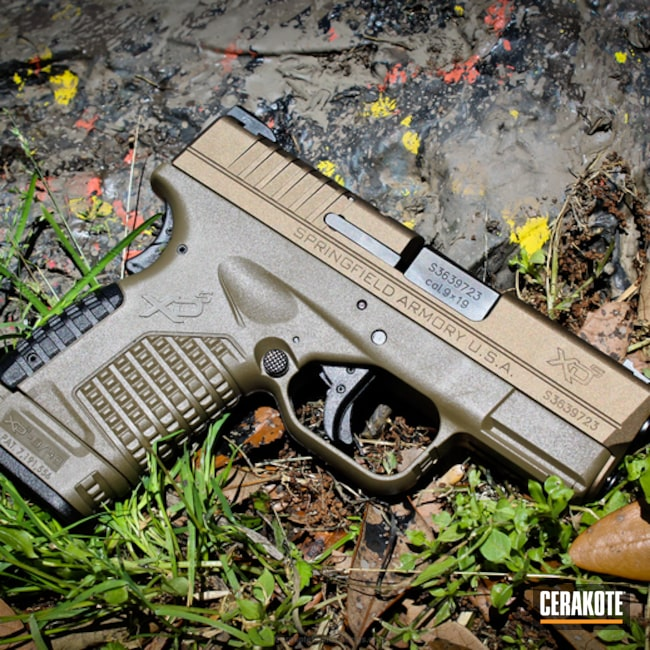 Thumbnail version of the 6th project picture. Springfield, Pistol, Springfield XD, Burnt Bronze H-148Q