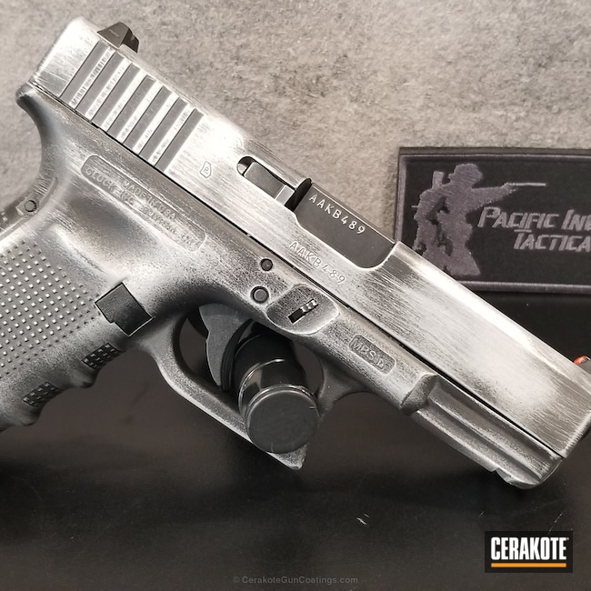 Smaller version of the 1st project picture. Graphite Black H-146Q, Glock, Glock 19, Pistol, Satin Aluminum H-151Q