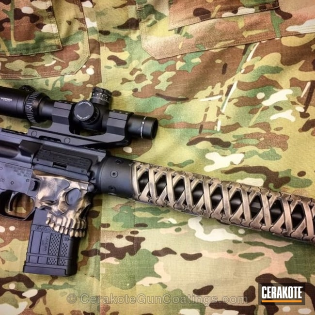 Spike's Tactical The Jack Receiver coated in H-146 Graphite Black and H-235 Coyote Tan