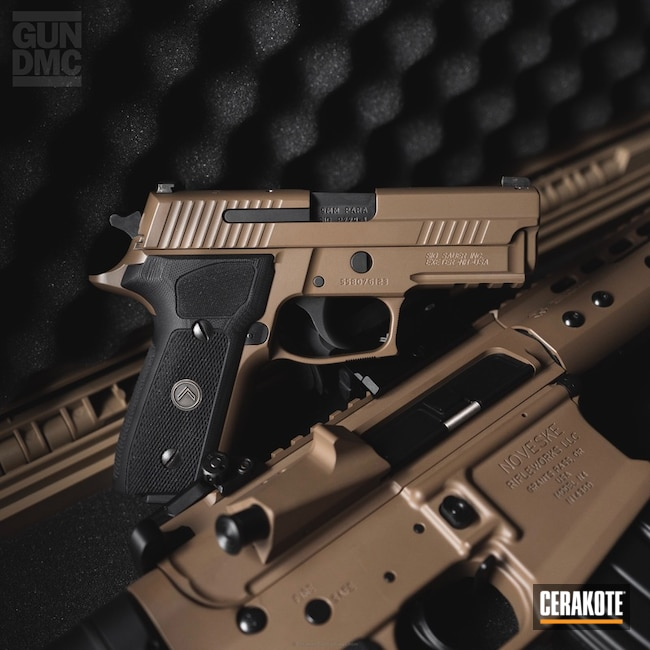 Tactical Rifle and Matching Handgun done in H-267 MagPul Flat Dark Earth