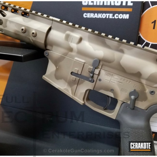 Tactical Rifle featuring H-226 Patriot Brown, H-267 MagPul Flat Dark Earth and H-203 McMillian Tan