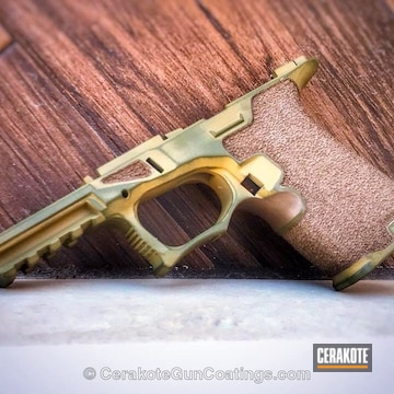 Cerakoted Polymer Pistol Frame In A Custom Cerakote Finish
