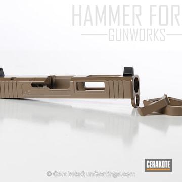 Cerakoted Glock Slide Coated In E-170 Coyote M17