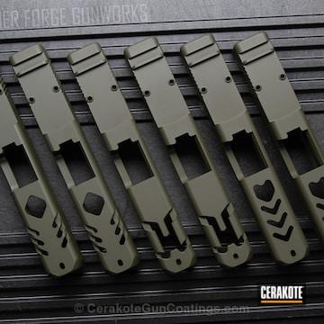Cerakoted Glock Slides Coated In H-240 Mil Spec O.d. Green