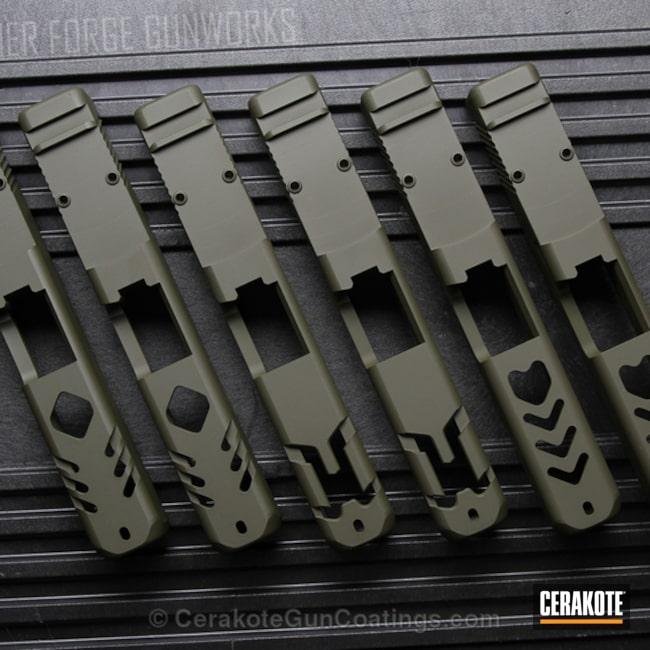 Cerakoted: Glock 19,Mil Spec O.D. Green H-240,Glock,Slide