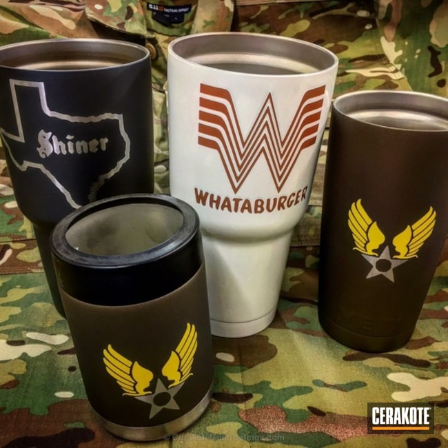 Tumbler Cups in a Custom Cerakote Finish
