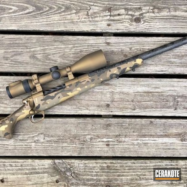Bolt Action Rifle done in a Custom MultiCam Finish