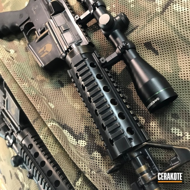 DPMS Panther Arms Rifle done in H-148 Brunt Bronze and HIR-146 Gen II Graphite Black
