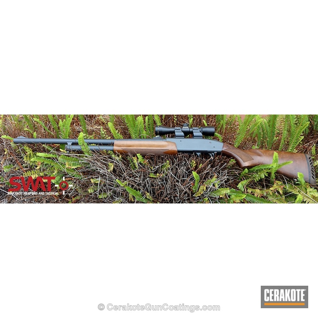 Mossberg 500 Shotgun coated in H-234 Sniper Grey