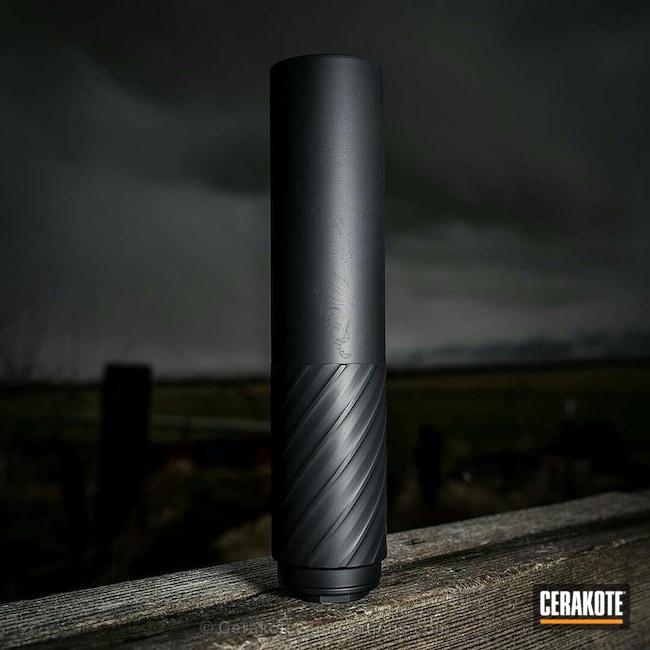 Cerakoted Rex Silentium Suppressor Coated In Cerakote C-102 Graphite Black