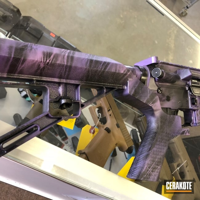 DPMS Rifle in a Marbled Camo Finish