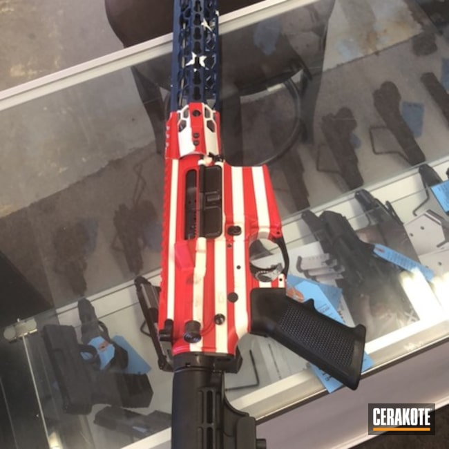 American Flag Themed Tactical Rifle