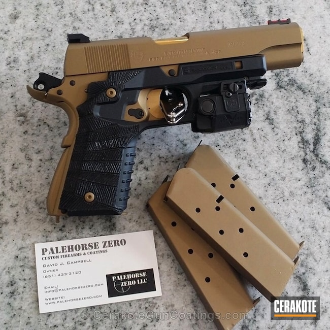 1911 Handgun in H-148 Burnt Bronze and H-122 Gold