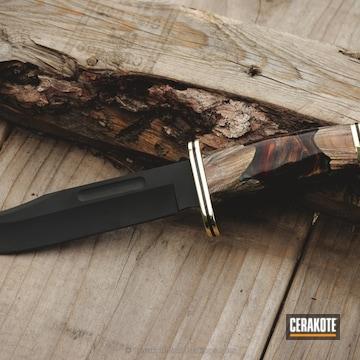 Cerakoted Buck Knives Hunting Knife With Cerakote Elite Smoke