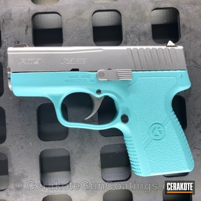 KAHR Arms Handgun in Robin's Egg Blue