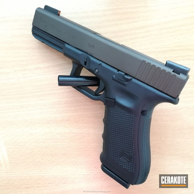 "Thumbnail image for project ""Glock 17 Handgun in Cerakote H-294 Midnight Bronze"""