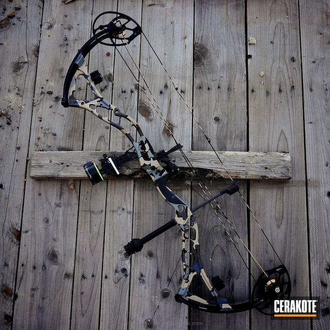 Bowtech Boss Bow with Cerakote Kuiu Camo Pattern
