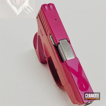 Cerakoted Glock Handgun Finished In A Breast Cancer Awareness Ribbon