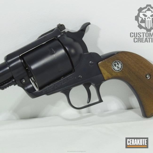 Cerakoted: Ruger,Socom Blue H-245,Revolver,Wheel Gun,Hand Cannon,Ruger Blackhawk,44 Magnum