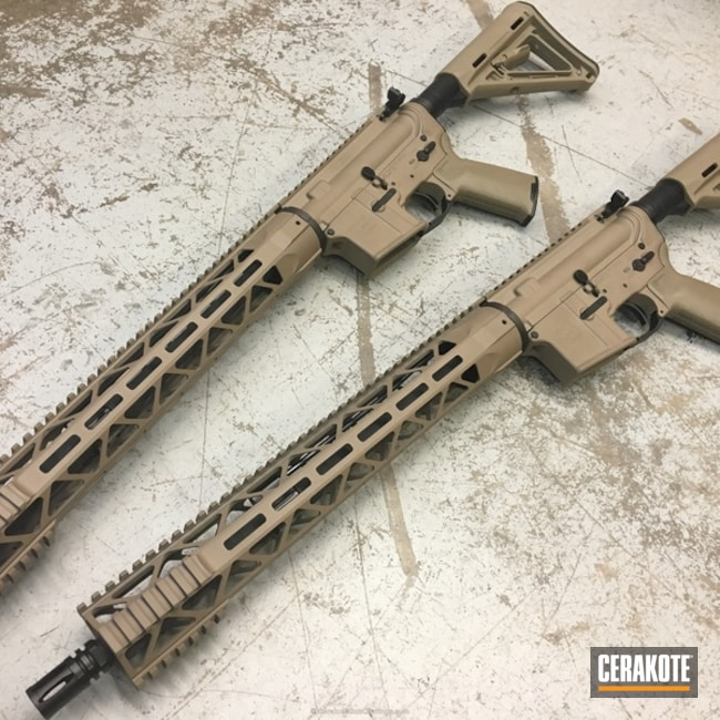 Tactical Rifle coated in H-267 MagPul Flat Dark Earth